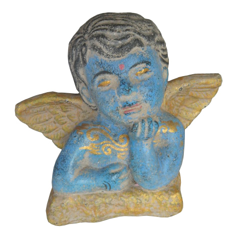 Blue Angel in cement. Size H15, W 18 cm. Price FOB 2,95 usd. Order code CP043.