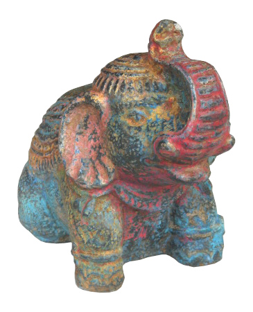 Elephant in cement. Size H20, L22, W13 cm. Price 3,90 usd excl packing. Art. code: CP068.