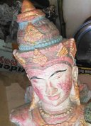 Rama head in cement. Size H30, L21, W13 cm. Price FOB  5,25 usd excl packing. Order code CP032.