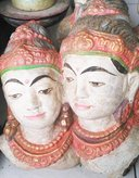 Shiva & Parwati in cement. Size H30 cm. Price FOB 9,65 usd excl packing. Art. code: CP067.