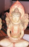 Shiva in cement. Size H40 cm. Price FOB 9,90 usd excl packing. Art. code: CP078.