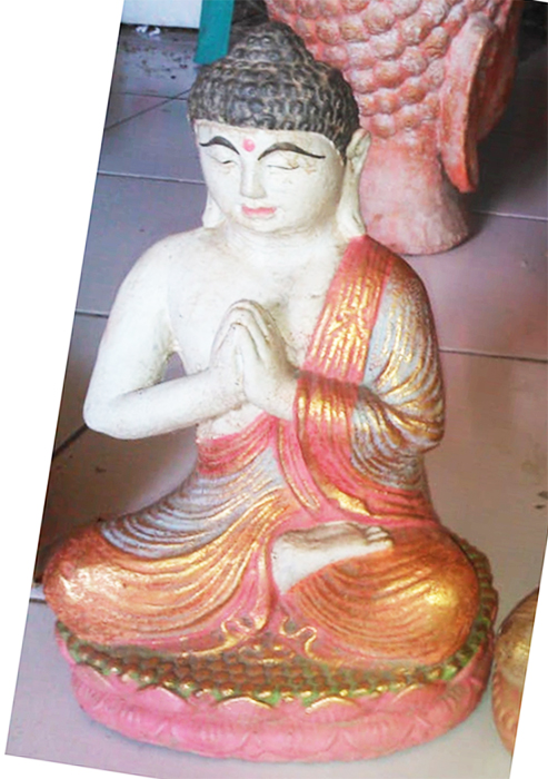 Buddha meditation. Size H26 cm. Price 5,20 usd excl packing. Art. code: CP095.