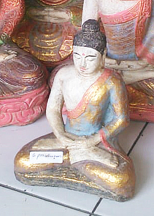 Buddha meditation. Size H17 cm. Price 3,50 usd excl packing. Art. code: CP097.