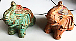 Elephant in cement. Size H10, L13, W8 cm. Price 2,10 usd excl packing. Art. code: CP107.