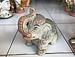 Elephant in cement. Size H20, L22, W13 cm. Price 3,90 usd excl packing. Art. code: CP108.