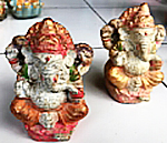 Ganesha in cement. Size H12, L9, L6.5 cm. Price 2,05 usd excl packing. Art. code: CP113.