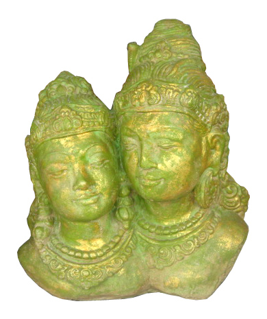 Shiva & Parwati in cement. Size H30 cm. Price 10,30 usd excl packing. Art. code: CP066.