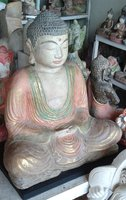 Buddha in cement. Size H40, L35, W20 cm. Price FOB 15,70 usd incl packing wooden crate. Order code CP021.