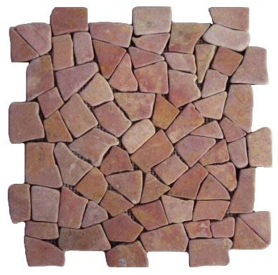 Puzzle Mosaic Interlock Red Marble – Order code: PZMI-09-4side