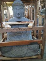 Sitting Buddha Japan Riverstone. Size: H75, L50, W35 cm. Art. code BS038. Price Exwork 132,00 usd, Price FOB 140.00 usd. Port Semarang Indonesia.
