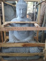 Sitting Buddha Japan Riverstone. Size: H100, L60, W50 cm. Art. code BS039. Price Exwork 247,00 usd, Price FOB 265,00 usd. Port Semarang Indonesia.