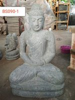 Sitting Buddha Green stone. Art. code BS090. Size H75, L42, W30cm. Weight 83 kg. Price Exwork 50 usd, Price FOB 56,09 usd.