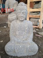 Sitting Buddha Japan Green stone. Art. code BS116. Weight 30 kg. Price Exwork 35 usd. Price FOB 38,13 usd.