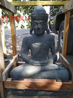 Sitting Buddha Khmer Green stone. Art. code BS128B. Size H60, L35, W30 cm. Weight 59 kg. Price FOB 50 usd.