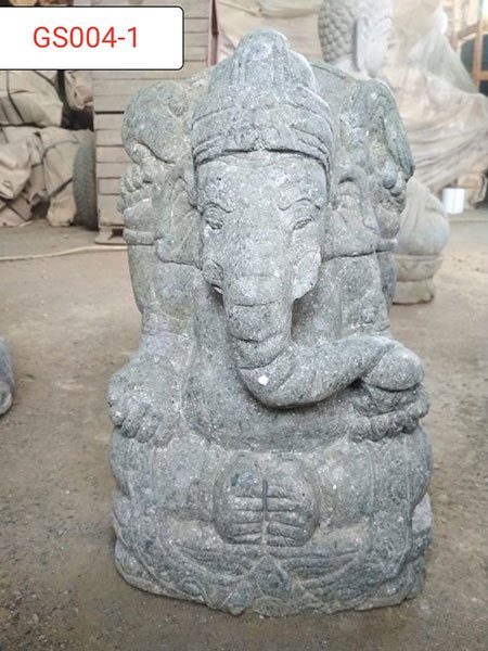 Ganesha Green stone. Art. code GS004. Size H 40, L25, W30cm. Weight 32 kg. Price Exwork 30 usd, Price FOB 32,47 usd.