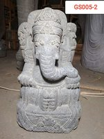 Ganesha Green stone. Art. code GS005. Size H 50, L30, W35cm. Weight 53 kg. Price Exwork 38 usd, Price FOB 41,33 usd.