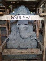 Sitting Ganesha. Natural Stone (Basanite). Size: H60, L30, W35 cm. Art. code GS006. Price Exwork 44,00 usd, Price FOB 48,50 usd. Port Semarang Indonesia.