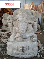 Ganesha Green stone. Art. code GS006. Size H 60, L30, W35cm. Weight 65 kg. Price Exwork 44 usd, Price FOB 48,53 usd.