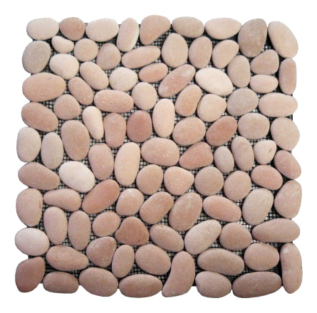 Pebble Mosaic Square Pink Stone – Order code: SM-21-1