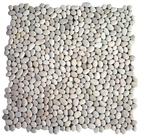 Pebble Mosaic Interlock White Stone—Order code: SMI-W-1, 4 tiles