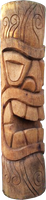 Tiki Coconut statue H 100cm, Diameter 25-27cm. Art. code TC004. Price FOB 26,50 usd.