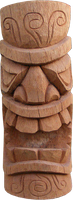 Tiki Coconut statue H 50cm, Diameter 25-27cm. Art. code TC001. Price FOB 12,90 usd.