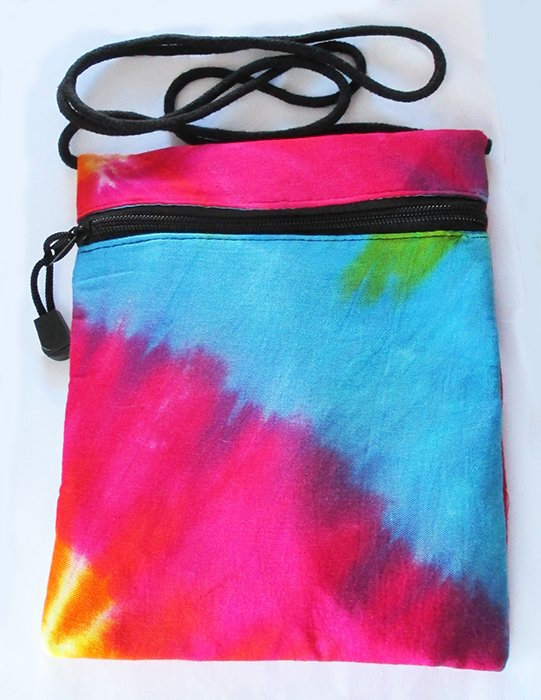 Textile bag for neck Art. Code ZTB005-Size 21 x 17 cm- Price 0,95 usd.