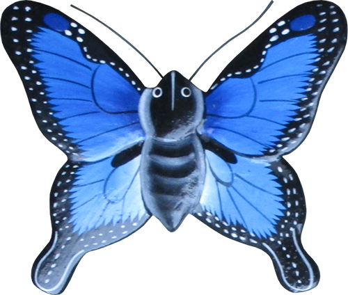 Magnet animal wood butterfly blue. Art. code ZM031. Size L 7 cm H 6,5 cm. Price FOB 0,33 usd. Art. code ZM035. Size L 9,5 cm, H 8 cm. Price FOB 0,38 usd.