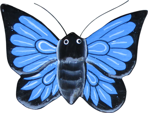 Magnet animal wood butterfly blue. Art. code ZM023. Size L 8 cm H 6 cm. Price FOB 0,28 usd. Art. code ZM027. Size L 9 cm, H 7 cm. Price FOB 0,33 usd.