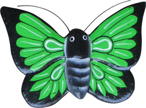 Magnet animal wood butterfly green. Art. code ZM024. Size L 8 cm H 6 cm. Price FOB 0,28 usd. Art. code ZM028. Size L 9 cm, H 7 cm. Price FOB 0,33 usd.
