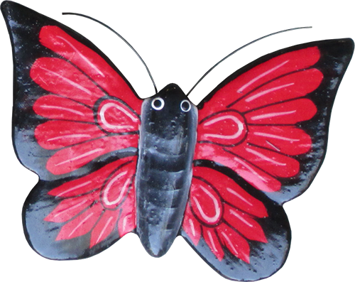 Magnet animal wood butterfly red. Art. code ZM025. Size L 8 cm H 6 cm. Price FOB 0,28 usd. Art. code ZM029. Size L 9 cm, H 7 cm. Price FOB 0,33 usd.