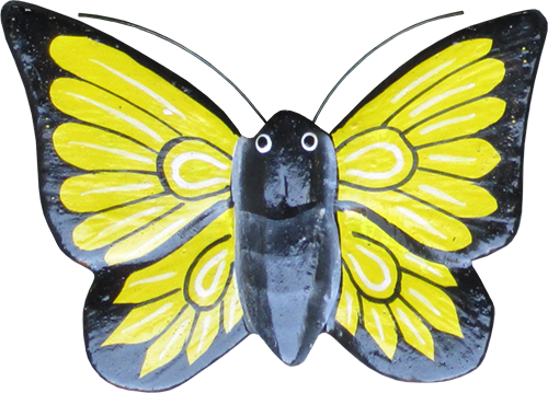 Magnet animal wood butterfly yellow. Art. code ZM026. Size L 8 cm H 6 cm. Price FOB 0,28 usd. Art. code ZM030. Size L 9 cm, H 7 cm. Price FOB 0,33 usd.