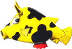 Art. code ZM022. Magnet animal wood cowfish. Size L 7,5 cm H 5,5 cm. Price FOB 0,30 usd.