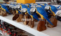 Painted wooden bird. Art. code PWB012. Size H 18cm. Price FOB