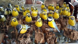 Painted wooden bird. Art. code PWB005. Size H 15cm. Price FOB. Painted wooden bird. Art. code PWB006. Size H 15cm. Price FOB